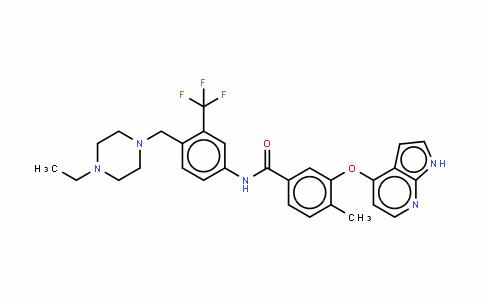 N-[4-[(4-乙基-1-哌嗪基)甲基]-3-(三氟甲基)苯基]-4-甲基-3-(1H-吡咯并[2,3-B]吡啶-4-基氧基)苯甲酰胺