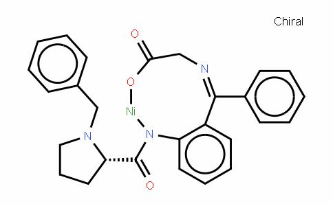 Nickel, [N-[phenyl[2-[[[(1R,2S)-1-(phenylmethyl)-2-pyrrolidinyl-κN]carbonyl]amino-κN]phenyl]methylene]glycinato(2-)-κN,κO]-, (SP-4-4)-
