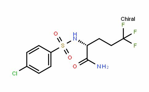 Pentanamide, 2-[[(4-chlorophenyl)sulfonyl]amino]-5,5,5-trifluoro-, (2R)-