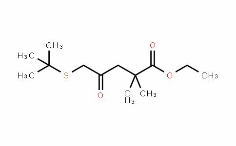 Pentanoic acid, 5-[(1,1-dimethylethyl)thio]-2,2-dimethyl-4-oxo-, ethyl ester