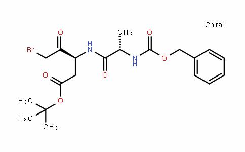 Pentanoic acid, 5-bromo-4-oxo-3-[[(2S)-1-oxo-2-[[(phenylmethoxy)carbonyl]amino]propyl]amino]-, 1,1-dimethylethyl ester, (3S)-