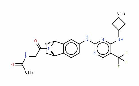 N-[2-[(1S,4R)-6-[[4-(环丁基氨基)-5-(三氟甲基)-2-嘧啶基]氨基]-1,2,3,4-四氢萘-1,4-亚氨-9-基]-2-氧代乙基]乙酰胺