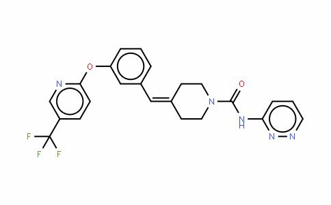N-哒嗪-3-基-4-(3-{[5-(三氟甲基)吡啶-2-基]醚}苯亚甲基丙酮)哌啶-1-羧酰胺