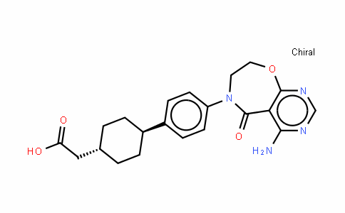 反式-4-[4-(4-氨基-7,8-二氢-5-氧代嘧啶并[5,4-F][1,4]氧氮杂卓-6(5H)-基)苯基]环己烷乙酸