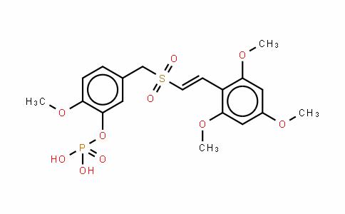 Phenol, 2-Methoxy-5-[[[(1E)-2-(2,4,6-triMethoxyphenyl)ethenyl]sulfonyl]Methyl]-, 1-(dihydrogen phosphate)