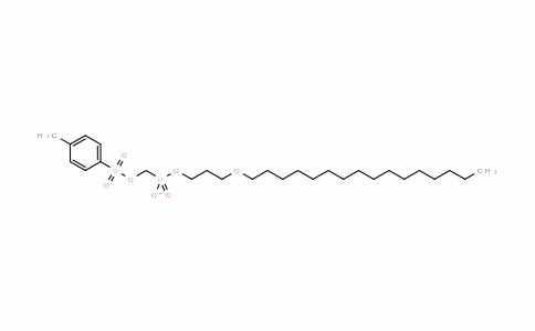 Phosphonic acid, P-[[[(4-methylphenyl)sulfonyl]oxy]methyl]-, mono[3-(hexadecyloxy)propyl] ester