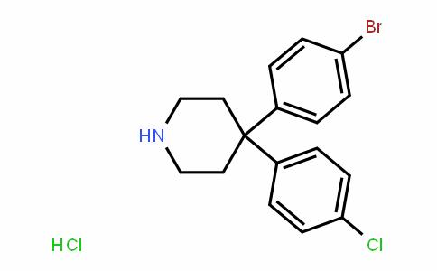 Piperidine, 4-(4-bromophenyl)-4-(4-chlorophenyl)-, hydrochloride (1:1)