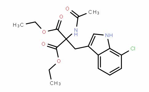 Propanedioic acid, 2-(acetylamino)-2-[(7-chloro-1H-indol-3-yl)methyl]-, 1,3-diethyl ester