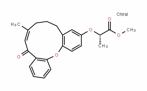 Propanoic acid, 2-[[(8E)-5,6,7,10-tetrahydro-8-Methyl-10-oxodibenz[b,j]oxacycloundecin-3-yl]oxy]-, Methyl ester, (2S)-