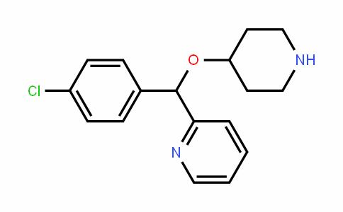 Pyridine, 2-[(4-chlorophenyl)(4-piperidinyloxy)methyl]-