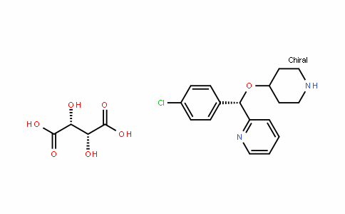 Pyridine, 2-[(S)-(4-chlorophenyl)(4-piperidinyloxy)Methyl]-, (2R,3R)-2,3-dihydroxybutanedioate (1:1)
