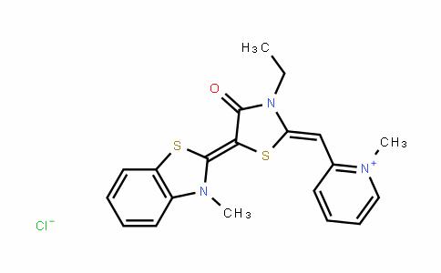 PyridiniuM, 2-[[3-ethyl-5-(3-Methyl-2(3H)-benzothiazolylidene)-4-oxo-2-thiazolidinylidene]Methyl]-1-Methyl-, chloride (1:1)