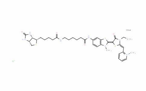 PyridiniuM, 2-[[3-ethyl-5-[6-[[6-[[5-[(3aS,4S,6aR)-hexahydro-2-oxo-1H-thieno[3,4-d]iMidazol-4-yl]-1-oxopentyl]aMino]-1-oxohexyl]aMino]-3-Methyl-2(3H)-benzothiazolylidene]-4-oxo-2-thiazolidinylidene]Methyl]-1-Methyl-, chloride (1:1)