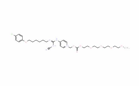 PyridiniuM, 4-[[[[6-(4-chlorophenoxy)hexyl]iMino](cyanoaMino)Methyl]aMino]-1-(3-oxo-2,4,7,10,13,16-hexaoxaheptadec-1-yl)-