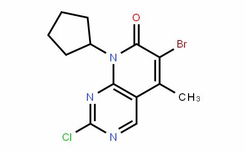 Pyrido[2,3-d]pyrimidin-7(8H)-one, 6-bromo-2-chloro-8-cyclopentyl-5-methyl-