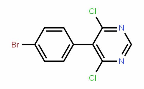 Pyrimidine, 5-(4-bromophenyl)-4,6-dichloro-