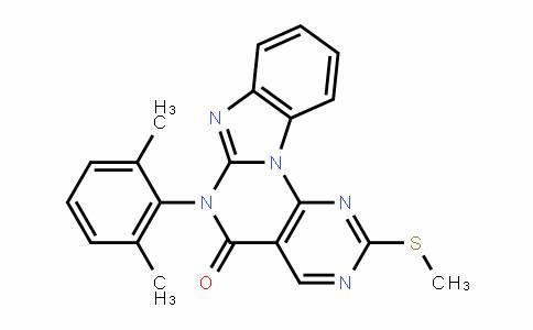 Pyrimido[5',4':5,6]pyrimido[1,2-a]benzimidazol-5(6H)-one, 6-(2,6-dimethylphenyl)-2-(methylthio)-