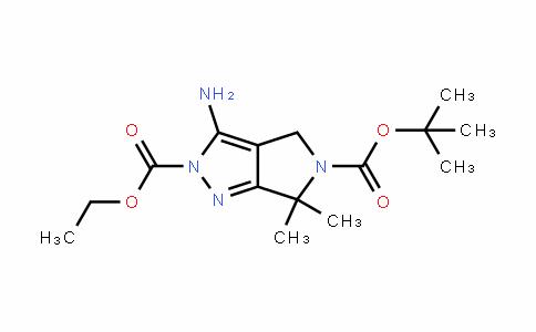 Pyrrolo[3,4-c]pyrazole-2,5(4H,6H)-dicarboxylic acid, 3-amino-6,6-dimethyl-, 5-(1,1-dimethylethyl) 2-ethyl ester