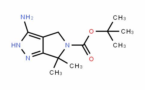 Pyrrolo[3,4-c]pyrazole-5(4H)-carboxylic acid, 3-amino-2,6-dihydro-6,6-dimethyl-, 1,1-dimethylethyl ester