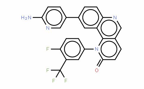 9-(6-氨基-3-吡啶基)-1-[4-氟-3-(三氟甲基)苯基]苯并[H]-1,6-萘啶-2(1H)-酮