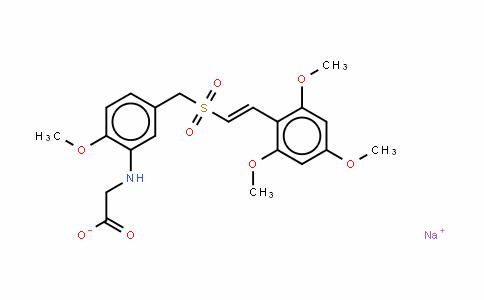 N-[2-甲氧基-5-[[[2-(2,4,6-三甲氧基苯基)乙烯基]磺酰]甲基]苯基]甘氨酸钠盐