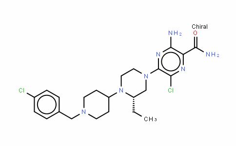 3-氨基-6-氯-5-[(3S)-4-[1-[(4-氯苯基)甲基]-4-哌啶基]-3-乙基-1-哌嗪基]-2-哌嗪甲酰胺