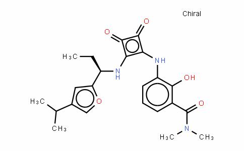 3-[[3-[(二甲氨基)羰基]-2-羟基苯基]氨基]-4-[[(R)-1-(4-异丙基呋喃-2-基)丙基]氨基]环丁-3-烯-1,2-二酮