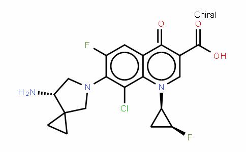 7-[(7R)-7-氨基-5-氮杂螺[2.4]庚烷-5-基]-8-氯-6-氟-1-[(1S,2R)-2-氟环丙基]-1,4-二氢-4-氧代-3-喹啉甲酸