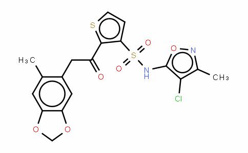N-(4-氯-3-甲基-5-异恶唑基)-2-[(2-甲基-4,5-亚甲二氧基苯基)乙酰]噻吩-3-磺酰胺