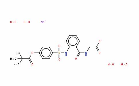N-[2-[[[4-(2,2-二甲基-1-氧代丙氧基)苯基]磺酰]氨基]苯甲酰]-(S)-甘氨酸单钠盐