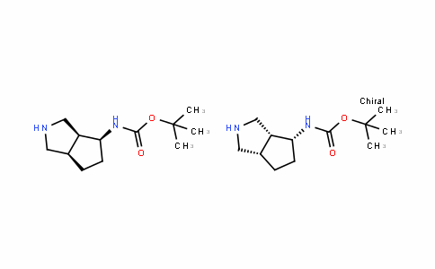 Tert-butyl (3aR,4R,6aS)-octahydrocyclopenta[c]pyrrol-4-ylcarbamate compound with Tert-butyl (3aS,4S,6aR)-octahydrocyclopenta[c]pyrrol-4-ylcarbamate (1:1)