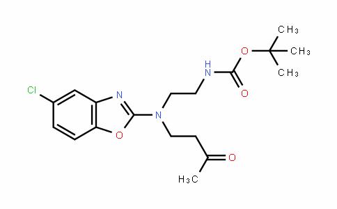 Tert-butyl 2-((5-chlorobenzo[d]oxazol-2-yl)(3-oxobutyl)amino)ethylcarbamate