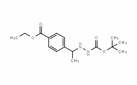 Tert-butyl 2-(1-(4-(ethoxycarbonyl)phenyl)ethyl)hydrazinecarboxylate