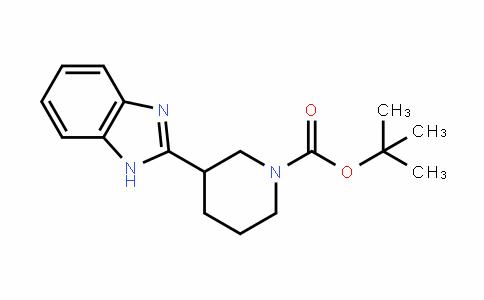 3-(1H-苯并[D]咪唑-2-基)哌啶-1-羧酸叔丁酯