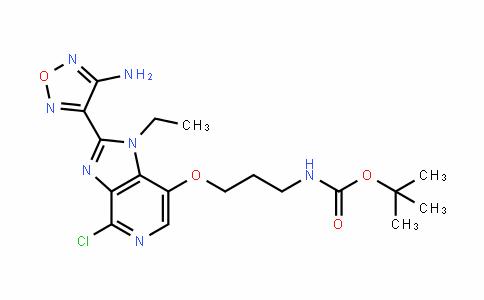 Tert-butyl 3-(2-(4-amino-1,2,5-oxadiazol-3-yl)-4-chloro-1-ethyl-1H-imidazo[4,5-c]pyridin-7-yloxy)propylcarbamate