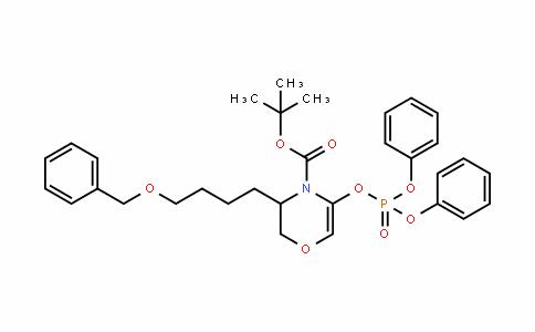 Tert-butyl 3-(4-(benzyloxy)butyl)-5-(diphenoxyphosphoryloxy)-2H-1,4-oxazine-4(3H)-carboxylate