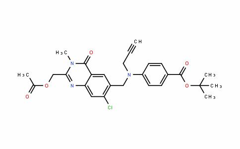 Tert-butyl 4-(((2-(acetoxymethyl)-7-chloro-3-methyl-4-oxo-3,4-dihydroquinazolin-6-yl)methyl)(prop-2-ynyl)amino)benzoate