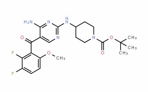 Tert-butyl 4-(4-amino-5-(2,3-difluoro-6-methoxybenzoyl)pyrimidin-2-ylamino)piperidine-1-carboxylate