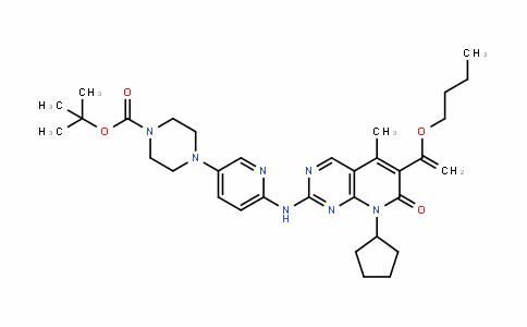 4-[6-[[6-(1-Butoxyvinyl)-8-cyclopentyl-5-methyl-7-oxo-7,8-dihydropyrido[2,3-d]pyrimidin-2-yl]amino]pyridin-3-yl]piperazine-1-carboxylic acid Tert-butyl ester