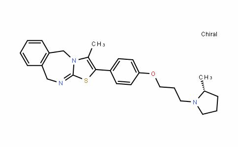 Thiazolo[3,2-b][2,4]benzodiazepine, 5,10-dihydro-3-Methyl-2-[4-[3-[(2R)-2-Methyl-1-pyrrolidinyl]propoxy]phenyl]-