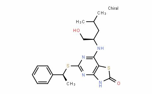 Thiazolo[4,5-d]pyriMidin-2(3H)-one, 7-[[(1R)-1-(hydroxyMethyl)-3-Methylbutyl]aMino]-5-[[(1S)-1-phenylethyl]thio]-