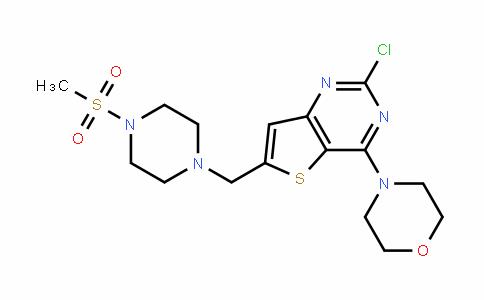 Thieno[3,2-d]pyrimidine, 2-chloro-6-[[4-(methylsulfonyl)-1-piperazinyl]methyl]-4-(4-morpholinyl)-