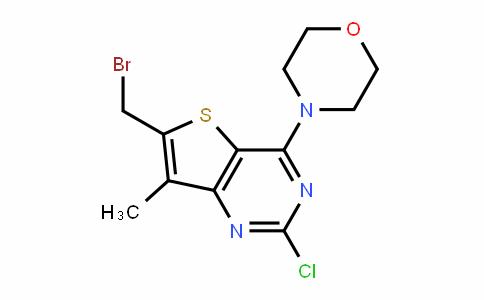 Thieno[3,2-d]pyrimidine, 6-(bromomethyl)-2-chloro-7-methyl-4-(4-morpholinyl)-