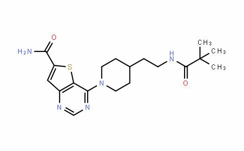 Thieno[3,2-d]pyriMidine-6-carboxaMide, 4-[4-[2-[(2,2-diMethyl-1-oxopropyl)aMino]ethyl]-1-piperidinyl]-