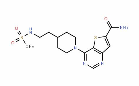 Thieno[3,2-d]pyriMidine-6-carboxaMide, 4-[4-[2-[(Methylsulfonyl)aMino]ethyl]-1-piperidinyl]-
