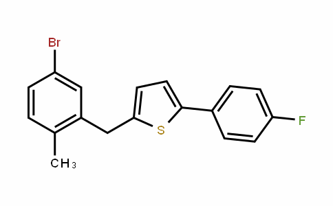 Thiophene, 2-[(5-bromo-2-methylphenyl)methyl]-5-(4-fluorophenyl)-
