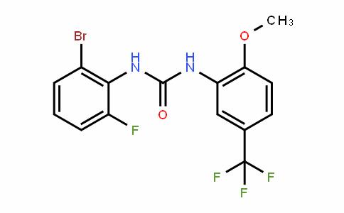 Urea, N-(2-bromo-6-fluorophenyl)-N'-[2-methoxy-5-(trifluoromethyl)phenyl]-