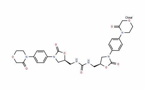 Urea, N,N'-bis[[(5S)-2-oxo-3-[4-(3-oxo-4-morpholinyl)phenyl]-5-oxazolidinyl]methyl]-