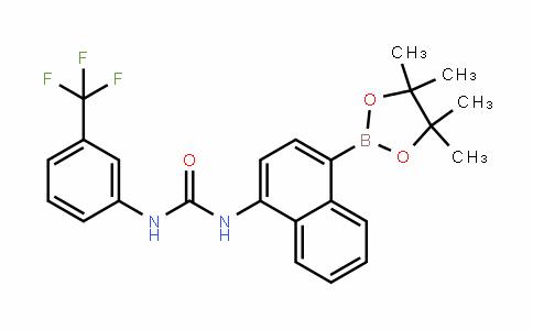 Urea, N-[4-(4,4,5,5-tetraMethyl-1,3,2-dioxaborolan-2-yl)-1-naphthalenyl]-N'-[3-(trifluoroMethyl)phenyl]-