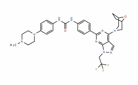 Urea, N-[4-(4-Methyl-1-piperazinyl)phenyl]-N'-[4-[4-(8-oxa-3-azabicyclo[3.2.1]oct-3-yl)-1-(2,2,2-trifluoroethyl)-1H-pyrazolo[3,4-d]pyriMidin-6-yl]phenyl]-